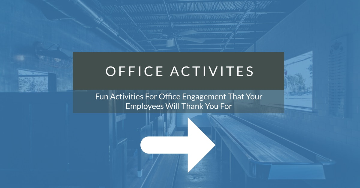 fun activities for office engagement that your employees will thank