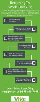 Return to Work Checklist