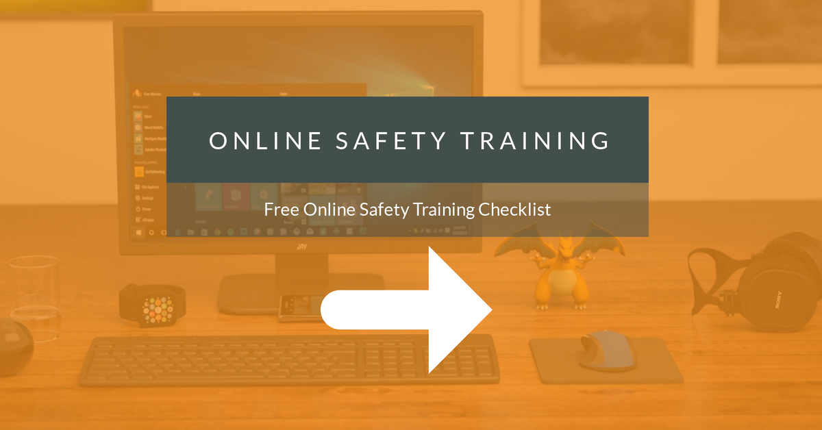 online safety training checklist - may 2018